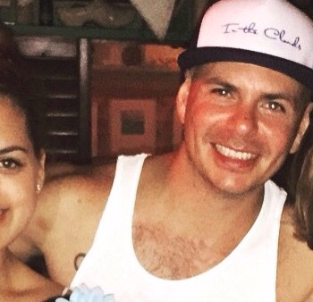 New Photos: Pitbull in Bahamas over the weekend.