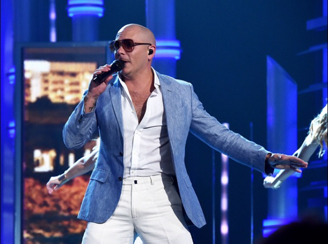 Pitbull and Chris Brown on the Billboard Music Awards.