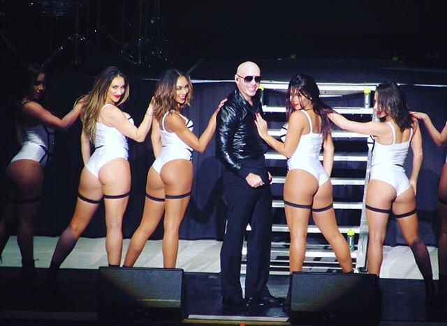 Pitbull Performs at the Washington State Fair.
