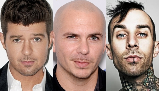 Pitbull to Perform with Robin Thicke and Travis Barker at the GRAMMYs