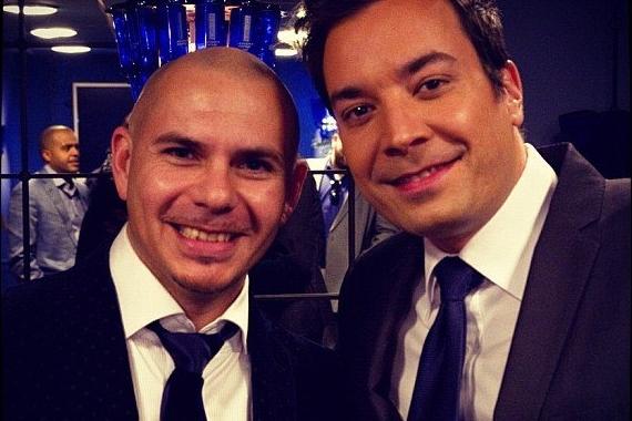 Pitbull and Jimmy Fallon