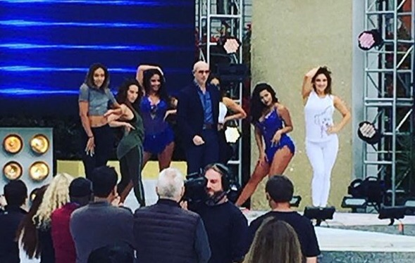 PHOTO: Pitbull at Rehearsals for Dancing with the Stars Finale