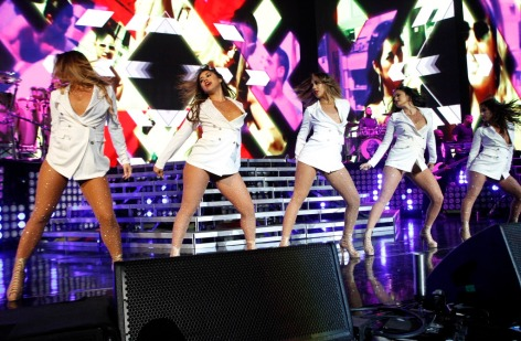 Dancers for Pitbull perform before the Cuban singer hit the stage at the American Airlines Center, on Friday, Julyl 22, 2016 in Dallas. Ben Torres/Special Contributor