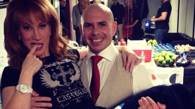 Kathy Griffin Reveals Her Encounters with Pitbull in New Book 'Celebrity Run-Ins: My A-Z index'