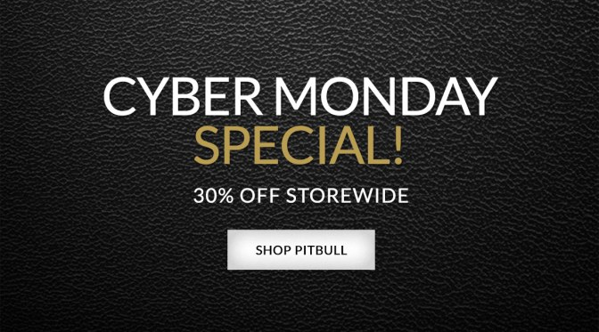 Cyber Monday Special: Get 30% Off Storewide on Pitbull's Official Store!