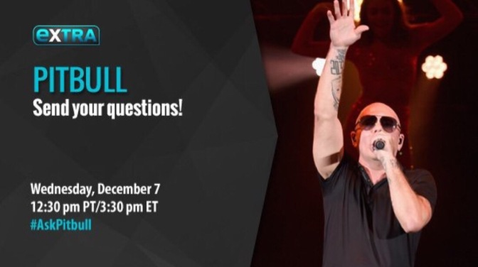 Don't Miss Pitbull's Twitter Chat with Extra TV Today