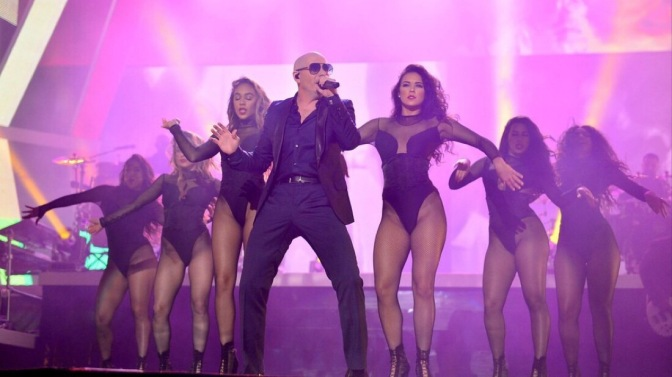 Pitbull Rings in 2017 With a Bang on New Year's Revolution