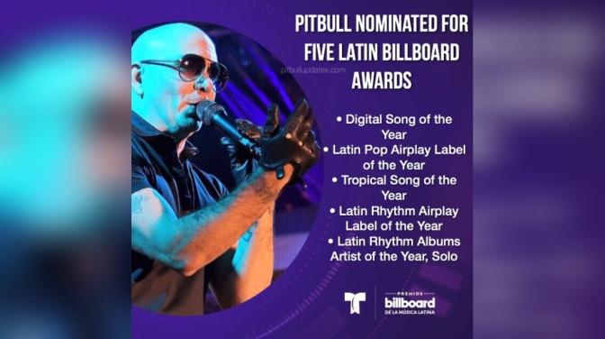 Pitbull Nominated For Five Latin Billboard Awards
