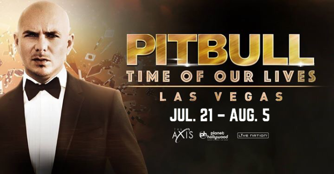 Pitbull Returns to Las Vegas to Headline Limited Residency 'Time of our Lives'
