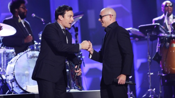 Pitbull to Guest Appear on Tonight Show Starring Jimmy Fallon (3.17)