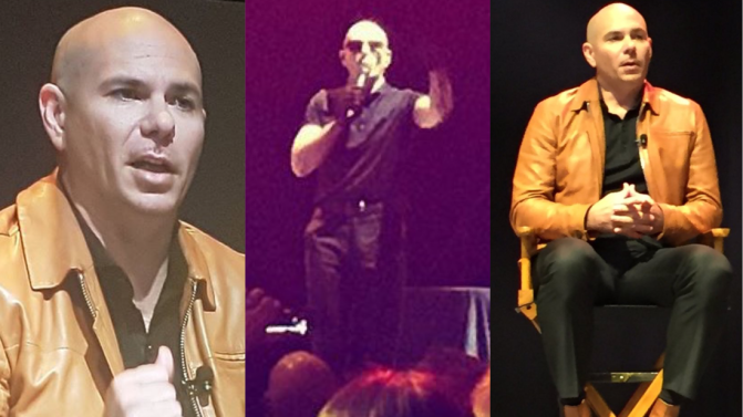 Pitbull Speaks and Performs at the Real Estate Wealth Expo in Toronto