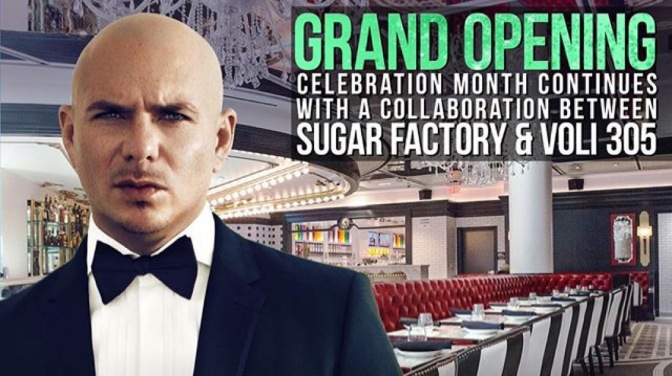 Pitbull to Host Sugar Factory Grand Opening Celebration in Las Vegas