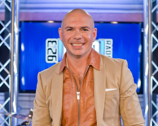 VIDEO + PHOTOS: Pitbull Interview with 92.3 AMP Radio