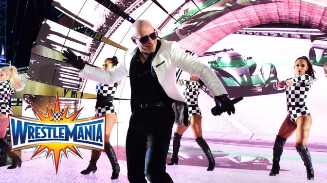 WATCH: Pitbull Performs at WrestleMania 33