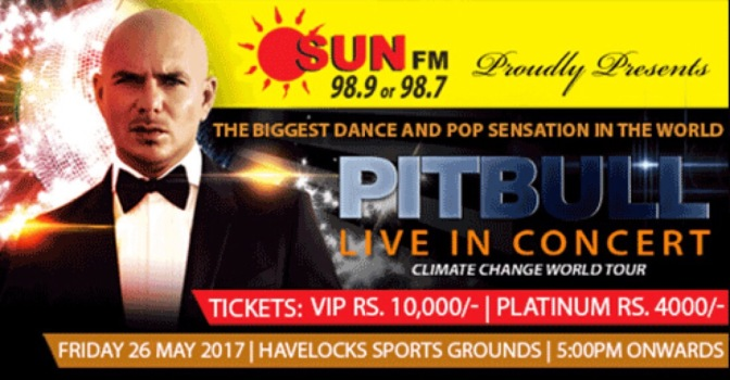 Pitbull to Perform in Sri Lanka during Climate Change World Tour