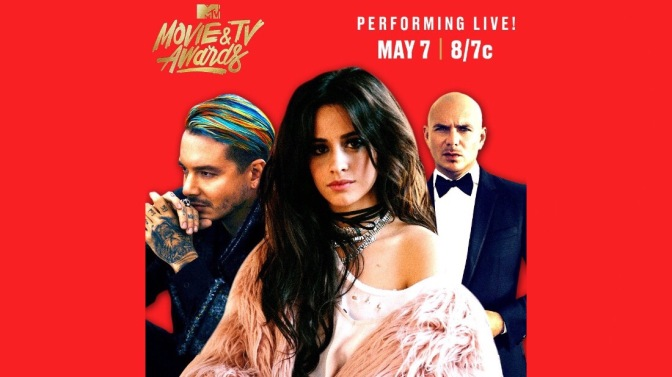 Pitbull, J Balvin & Camila Cabello to Perform at the MTV Movie & TV Awards