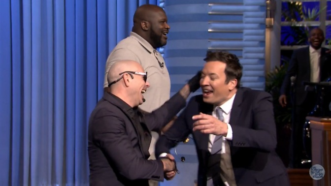 Pitbull Performs 'Options' & Plays Lip Sync Battle on The Tonight Show Starring Jimmy Fallon