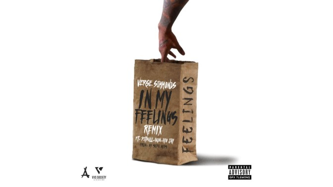 """NEW MUSIC: """"In My Feelings (Remix)"""" by Verse Simmonds ft. Pitbull, Akon & Ayo Jay"""
