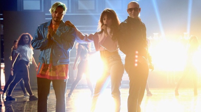 PHOTOS: Pitbull, Camila Cabello & J Balvin at MTV Movie & TV Awards Rehearsals